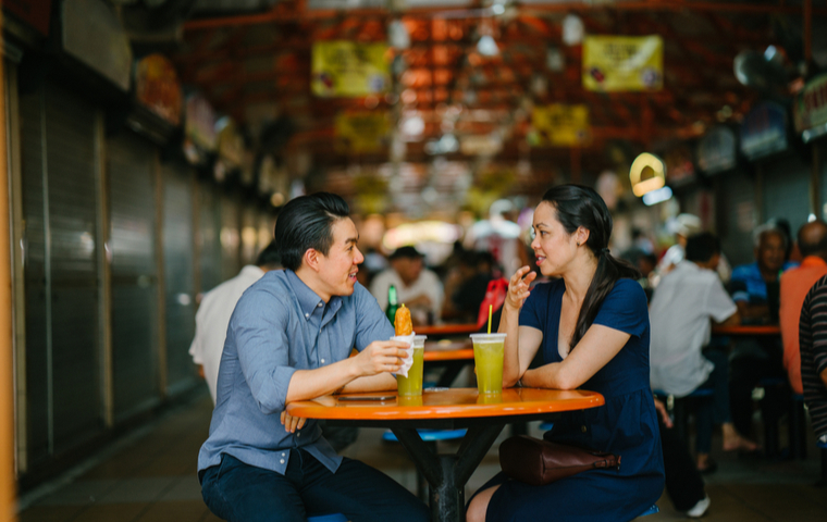Hawker Center Couple