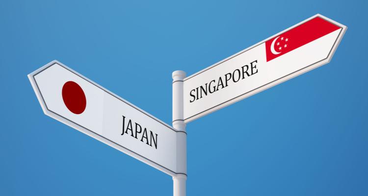 日本とシンガポールの標識